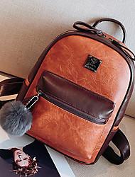 preiswerte -Damen Taschen PU Rucksack Reißverschluss für Normal Draussen Ganzjährig Braun Schwarz Grau Rot Khaki