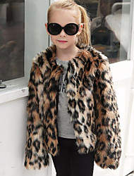 cheap -Faux Fur Wedding Party / Evening Kids' Wraps With Leopard Coats / Jackets