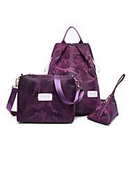 preiswerte -Damen Taschen Nylon Bag Set Muster / Druck Reißverschluss für Normal Draussen Ganzjährig Blau Schwarz Purpur Fuchsia