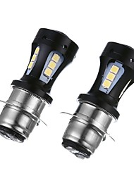 cheap -2PCS P15D H6M 18W Motorcycle LED Headlight Bulb P15D 6000K LED Motorcycle LED Bulb White Color for Motorcycle Headlight Usage