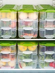 abordables -6 Cuisine Plastique Stockage alimentaire