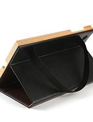 para capa de caso com flip de pé 360 ° de rotação auto sleep / wake up corpo completo cor sólida hard couro genuíno para Apple ipad ipad