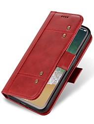 preiswerte -Hülle Für Samsung Galaxy S8 S7 edge Kreditkartenfächer Geldbeutel Flipbare Hülle Ganzkörper-Gehäuse Volltonfarbe Hart Echtleder für S8