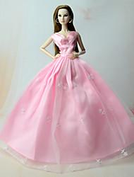 economico -Vestiti Abiti Per Bambola Barbie Rosa Abiti Per Ragazza Bambola giocattolo