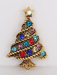 abordables -Broche - Strass Arbre de la vie simple, Doux Broche Or Pour Noël