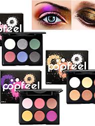 preiswerte -Pro 6 farbe matte & shimmer wasserdicht lidschatten pulver kit erdton rauchigen lidschatten make-up kosmetik palette