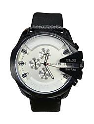 JUBAOLI Pánské Sportovní hodinky Módní hodinky Náramkové hodinky čínština Křemenný Kalendář Stopky Velký ciferník Nerez Kapela Černá Hnědá