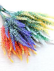 preiswerte -1 bund künstliche blumen pe lavendel 3 farbe 35 cm 5 gabel braut handgelenk blume