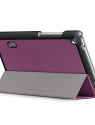 cheap -Solid Color Pattern PU Leather Case with Sleep for  Huawei MediaPad T3 7.0 inch Tablet PC