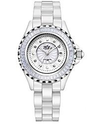 cheap -Women's Fashion Watch Quartz Ceramic Band White