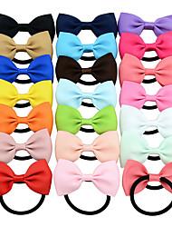 Недорогие -сплошной цвет детей bowknot милые волосы кольцо головной убор оптовые цвета смешанные волосы 20pcs