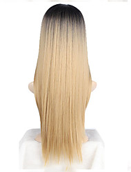 abordables -Perruque Synthétique Blond Femme Sans bonnet Perruque de Cosplay Long Cheveux Synthétiques