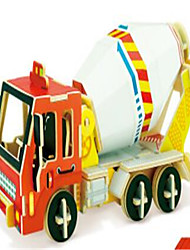 cheap -3D Puzzles Construction Vehicle Toys Excavating Machinery Vehicles Kids 1 Pieces