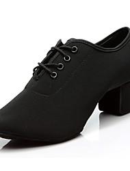 Women's Jazz Oxford Split Sole Sneaker Indoor Chunky Heel Red Black 2 - 2 3/4 Customizable