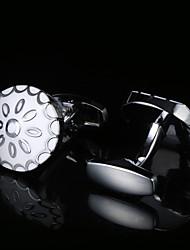 Недорогие -Геометрической формы Белый Запонки Узор Муж. Бижутерия Назначение