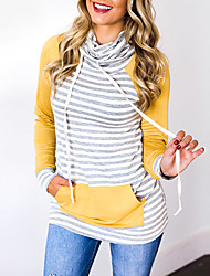 preiswerte -Damen Rundhalsausschnitt Pullover - Streife, Gestreift Einfarbig