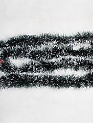 Недорогие -2m пвх зеленый и белый симулятор травы рождественские украшения