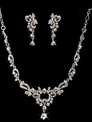 cheap -Women's Drop Earrings Necklace Rhinestone Wedding Party Rhinestone Alloy Drop Necklace Earrings