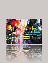 Недорогие -Холст для печати Абстракция,1 панель Холст Горизонтальная С картинкой Декор стены For Украшение дома
