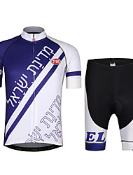 cheap -Cycling Jersey with Shorts Unisex Short Sleeves Bike Jersey Clothing Suits Lightweight Terylene LYCRA® Letter & Number Summer