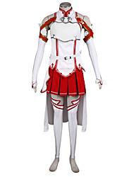 Недорогие -Вдохновлен Алисизация SAO Asuna Yuuki Аниме Косплэй костюмы Косплей Костюмы Пэчворк Блузка / Юбки / Рукава Назначение Жен.