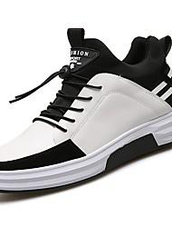 Herren Schuhe Gummi Frühling Herbst Komfort Sneakers Schnürsenkel Für Weiß Schwarz
