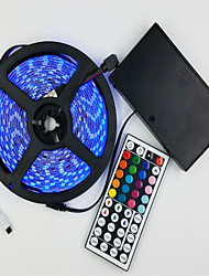 cheap -Light Strip Suit 12V Battery Powered 5M 5050 300 Lamp Waterproof RGB 44 key Remote Control