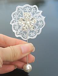 economico -Bouquet sposa Fiore all'occhiello Matrimonio Con perline / Pizzo 2 cm ca.