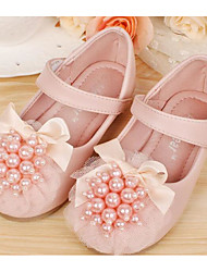 cheap -Girls' Shoes Synthetic Microfiber PU Fall Winter Flower Girl Shoes Sneakers For Casual Blushing Pink Beige