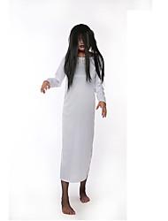 economico -Fantasma Un Pezzo Vestiti Donna Halloween Giorno della morte Feste / vacanze Costumi Halloween Bianco Rosso Vintage