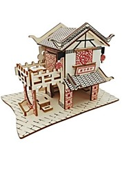 cheap -3D Puzzles Jigsaw Puzzle Model Building Kit Wood Model House 3D Animal Kids Hot Sale DIY Wood Christmas Houses Fashion New