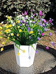 3 bouquet de plantes artificielles 7 fourchu herbe de printemps 4 couleur 37cm décoration de la maison