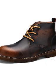 Masculino sapatos Pele Real Couro Couro Ecológico Outono Inverno Conforto Botas de Montaria Botas da Moda Botas de Moto Curta/Ankle