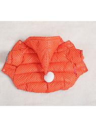 Dog Costume Coat Hoodie Dog Clothes Casual/Daily Keep Warm Waterproof Sports Christmas Polka Dots Fuchsia Orange