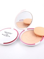 cheap -3 Powder Concealer/Contour Pressed Powder Matte Mineral Pressed powder Whitening Oil-control Long Lasting Natural Face