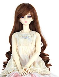 Ženy Syntetické paruky Bez krytky Dlouhý Kudrny Medium Auburn Doll paruka Kostýmová paruka