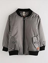 cheap -Boys' Solid Jacket & Coat,Cotton Winter Long Sleeve Gray