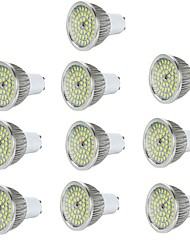10pcs 6W GU10/E27/E14/GU5.3 LED Spotlight 48*2835SMD 550LM Warm/Cool White Aluminum Spot Lamp AC85-265V