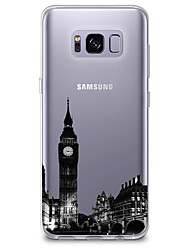 cheap -Case For Samsung Galaxy S8 S7 Ultra-thin Transparent Pattern Back Cover City View Soft TPU for S8 Plus S8 S7 edge S7 S6 edge plus S6 edge