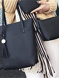 preiswerte -Damen Taschen PU Umhängetasche Tasche für Ganzjährig Schwarz Rote Rosa