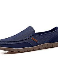 cheap -Men's Shoes Denim Spring Fall Comfort Loafers & Slip-Ons Split Joint For Casual Camel Gray Dark Blue