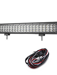 cheap -189W 18900LM 6000K 3-Rows LED Work Light Cool White Flood Offroad Driving Light for Car/Boat/Headlight IP68 9-32V  2m 1-To-1 Wiring Harness Kit