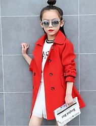 preiswerte -Mädchen Jacke & Mantel Solide Rote Rosa Khaki