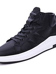 cheap -Men's Shoes PU Winter Comfort Sneakers Lace-up for Casual White Black Red