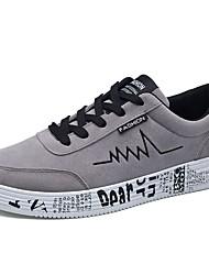 preiswerte -Damen Schuhe Beflockung Frühling Herbst Komfort Sneakers Für Normal Grau Schwarz und Gold Schwarz/Rot