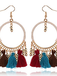 Femme Boucles d'oreille gitane Mode Simple Style Résine Forme de Cercle Bijoux Pour Quotidien Vacances