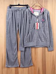 Per donna Reggiseno e pantaloni da corsa Manica lunga Morbidezza Pantaloni Set di vestiti Top per Corsa Jogging Spandez Velluto Largo