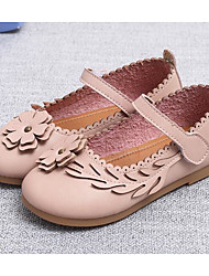 cheap -Girls' Shoes Synthetic Microfiber PU Fall Winter Flower Girl Shoes Sneakers For Casual Blushing Pink Gray Beige