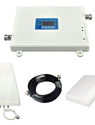cheap -LCD Display Mobile Phone DCS W-CDMA UMTS Signal Booster 3G 2100mhz 4G 1800mhz Signal Repeater with Panel Antenna / Log Periodic Antenna / White