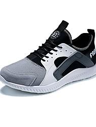 abordables -Homme Chaussures Tulle Hiver Automne Confort Basket Lacet pour Décontracté De plein air Noir Gris Bleu marine